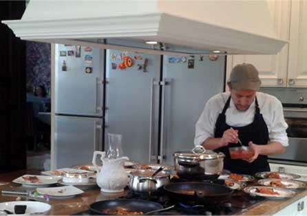 Federico Bossini Cocinero en casa