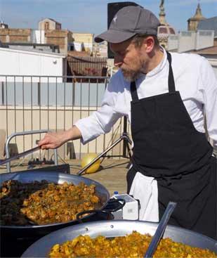 paellas para grupos y show cooking